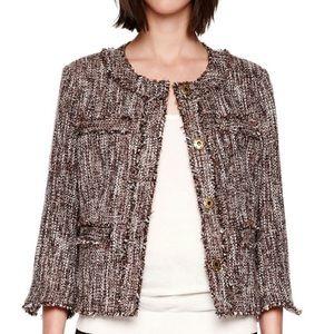 Michael Micheal Kors Tweed Frayed Hem Jacket | 12